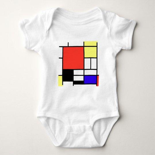 Composition , Mondriaan ベビーボディスーツ