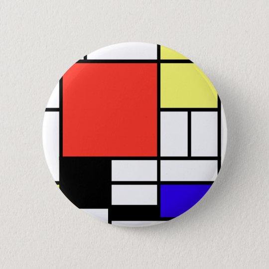 Composition , Mondriaan 5.7cm 丸型バッジ