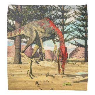 Compsognathusの恐竜- 3Dは描写します バンダナ