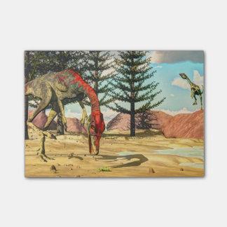 Compsognathusの恐竜- 3Dは描写します ポストイット