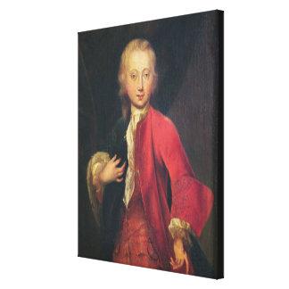 Comteモーリスde Saxeのポートレート キャンバスプリント