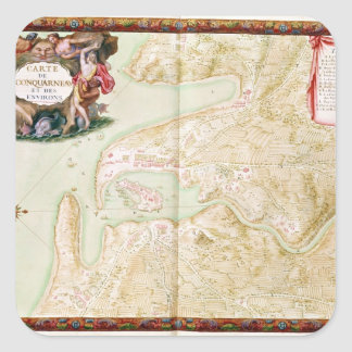 Concarneauの地図 スクエアシール