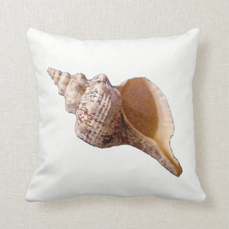 Conch Seashell Throw Pillow クッション