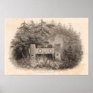 Concomelyの墓、Astoria、オレゴン ポスター