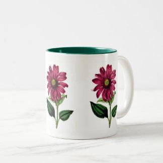 Coneflowerの紫色のマグ ツートーンマグカップ