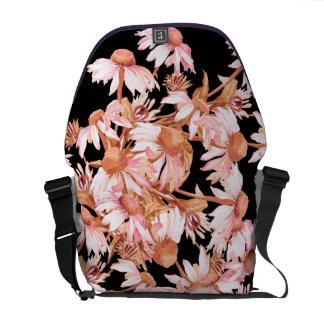 Coneflowerの花の花の人力車のメッセンジャーバッグ クーリエバッグ