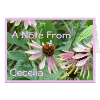 Coneflowersのピンクの庭 カード