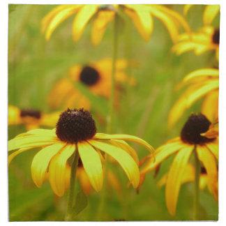 Coneflowersの黄色いナプキン ナプキンクロス