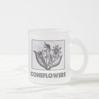 Coneflowers フロストグラスマグカップ
