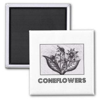 Coneflowers 冷蔵庫マグネット
