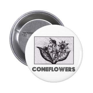 Coneflowers 5.7cm 丸型バッジ