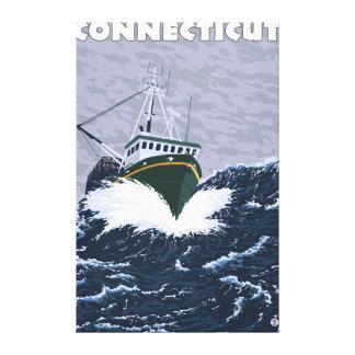 ConnecticutCrabの漁船場面 キャンバスプリント