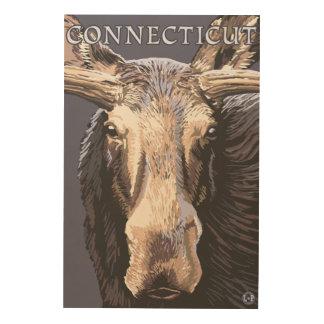 ConnecticutMooseの終わり ウッドウォールアート