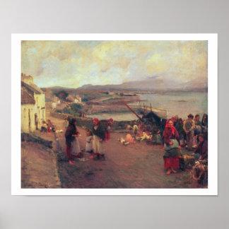Connemaraの村-港1898年への方法 ポスター