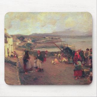 Connemaraの村-港1898年への方法 マウスパッド