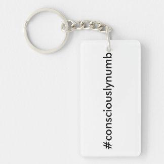 #consciouslynumbの長方形Keychain キーホルダー
