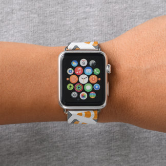 construction cone pattern fun apple watch band apple watchバンド