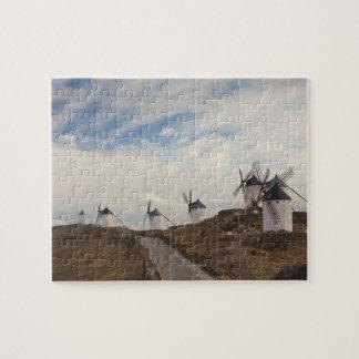 ConsuegraのLaのManchaの旧式な風車4 ジグソーパズル