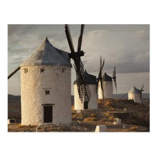ConsuegraのLaのManchaの旧式な風車6 ポストカード