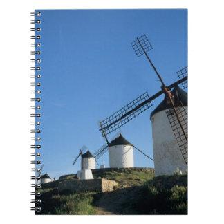 ConsuegraのLa Mancha、スペインの風車2 ノートブック