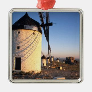 ConsuegraのLa Mancha、スペインの風車 メタルオーナメント
