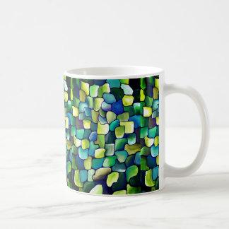 Contemporary Green Pattern コーヒーマグカップ