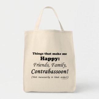 Contrabassoonは私を幸せにさせます トートバッグ