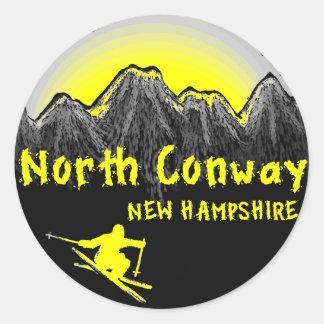 Conway北のニューハンプシャーのスキーヤー ラウンドシール