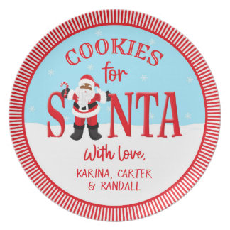Cookies for Santa - Ethnic - Personalized プレート