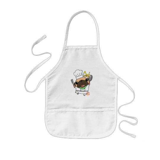Cooking Pug 子供用エプロン
