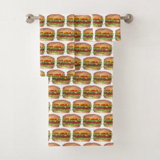 Cookoutのハンバーガーのハンバーガーのチーズバーガーのファースト・フード バスタオルセット