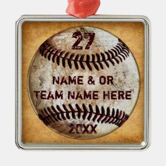 Cool Baseball Ornaments for Baseball Team Gifts メタルオーナメント