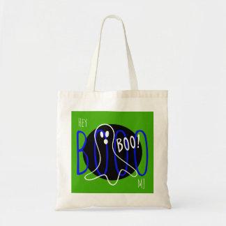 Cool Custom Monogram Name Halloween Ghost Boo Bag トートバッグ