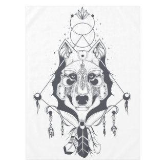 cool dog design art テーブルクロス