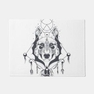 cool dog design art ドアマット