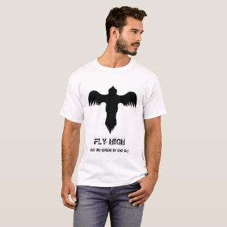 Cool Eagle Logo Black White Fly High Quote Tシャツ