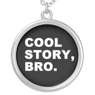 Cool story bro シルバープレートネックレス