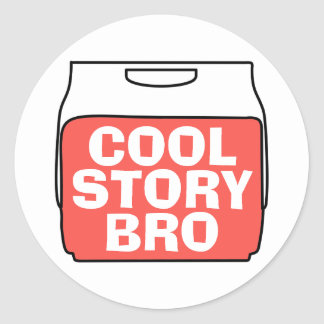 Cool story bro ラウンドシール