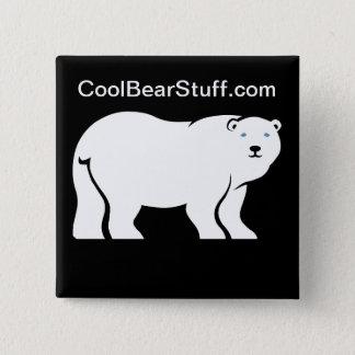 CoolBearStuff.com 5.1cm 正方形バッジ