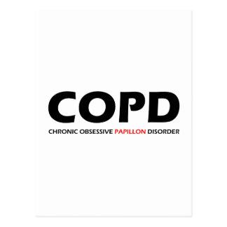 COPD - Papillonの慢性の執拗な無秩序 ポストカード