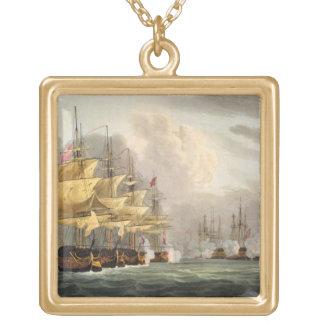Copenhaの前のデンマークの艦隊の破壊 ゴールドプレートネックレス