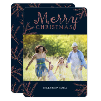 Copper Pine Branch Christmas Card カード