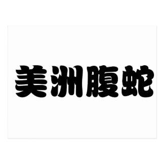 copperheadのための中国のな記号 ポストカード