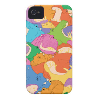CoqueのiPhone 4 Hippopotames Heureuses Case-Mate iPhone 4 ケース