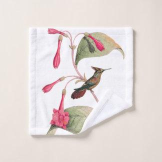 Coquetteのハチドリの鳥の花のWashclothタオル ウォッシュタオル