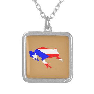coquiの旗 シルバープレートネックレス