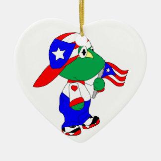 Coquiプエルトリコのプライド セラミックオーナメント