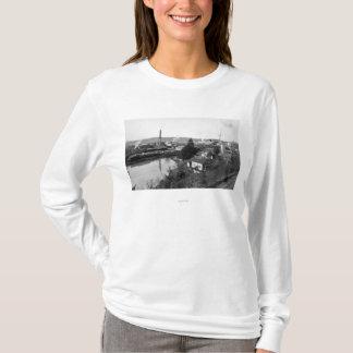 Coquille、か町の眺めおよび製材製造所 Tシャツ