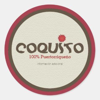 Coquito Puertorriqueno: プエルトリコからのCoquito ラウンドシール