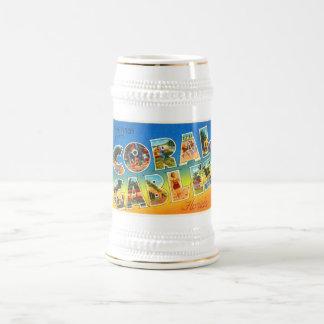 Coral GablesフロリダFLのヴィンテージ旅行記念品 ビールジョッキ